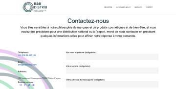 BB Distrib Page d'accueil zone contact